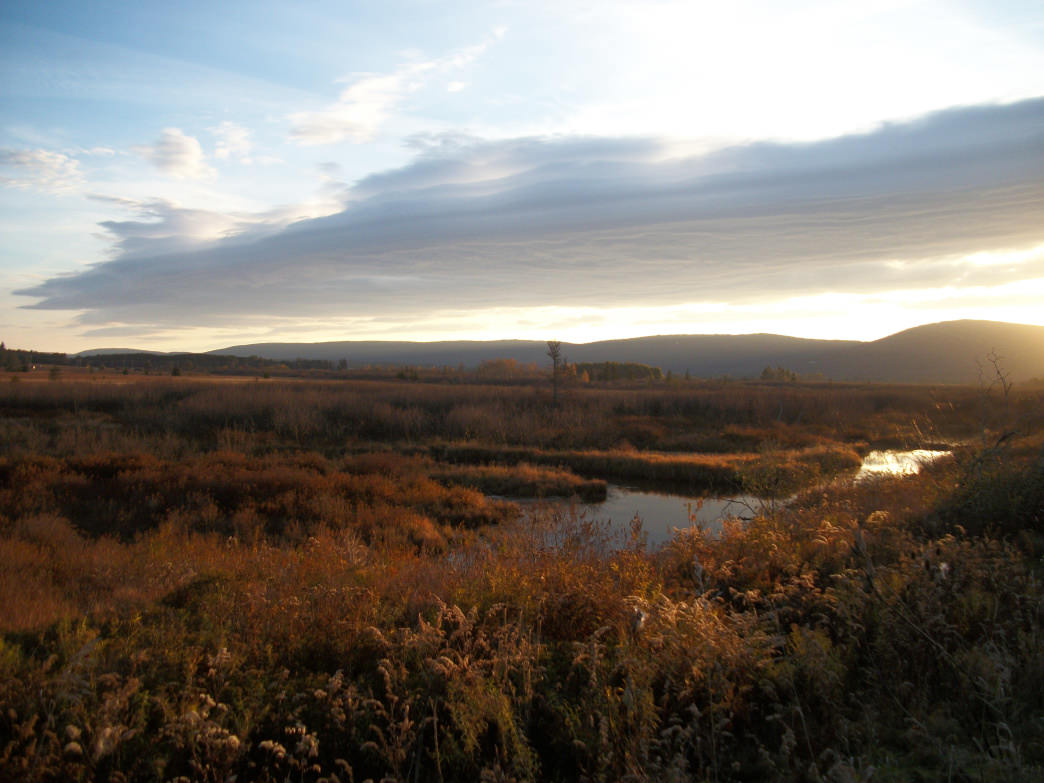 Canaan Valley Resort State Park offers several beautiful views, such as this cool, autumn sunrise.