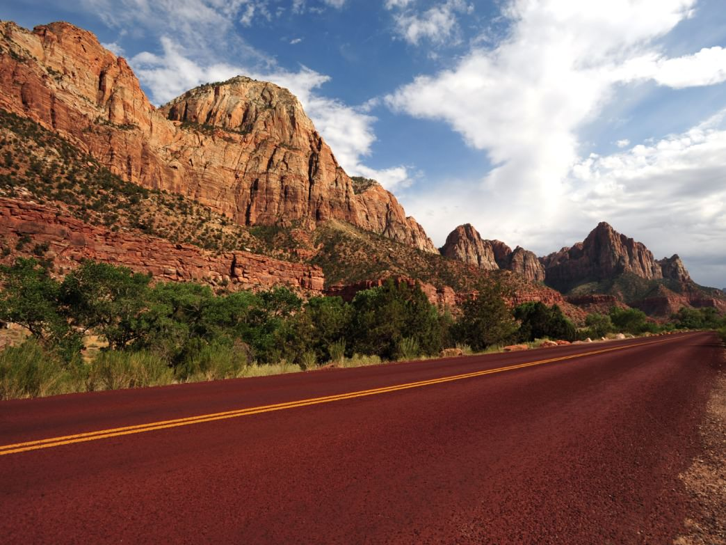 Road tripping through Zion National Park, Utah.