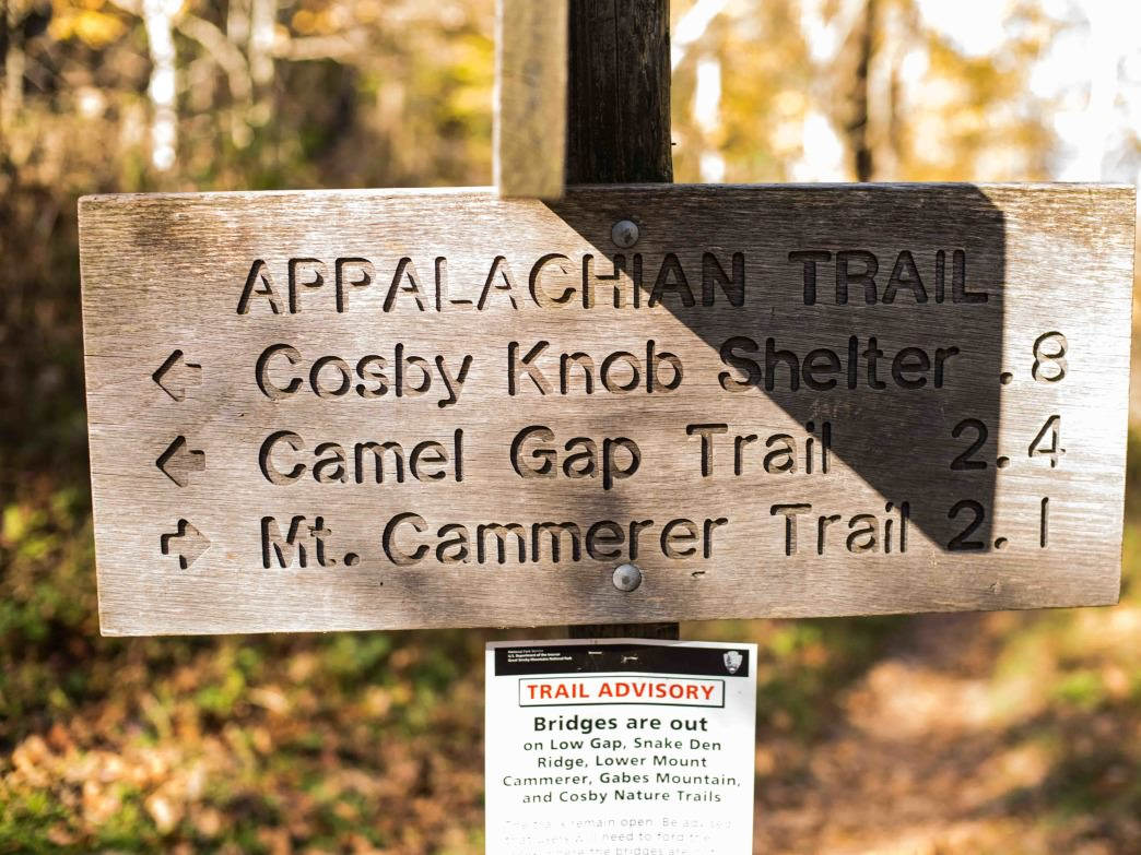 The intersection of The Low Gap and Appalachian trails marks an end to the most difficult part of the hike.