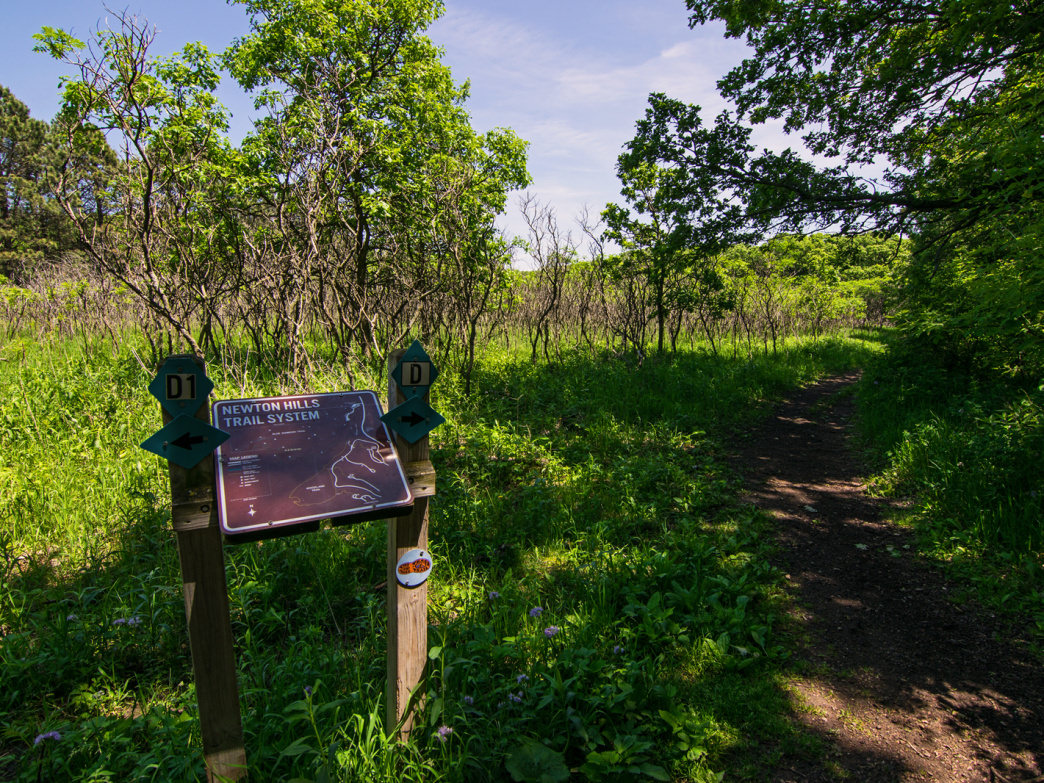 A beautiful spring day on the well marked/ signed trails at Newton Hills.