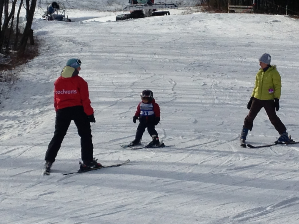 Instructors guide first-time skiers through the basics at Cochran's Ski Area in Richmond, VT.