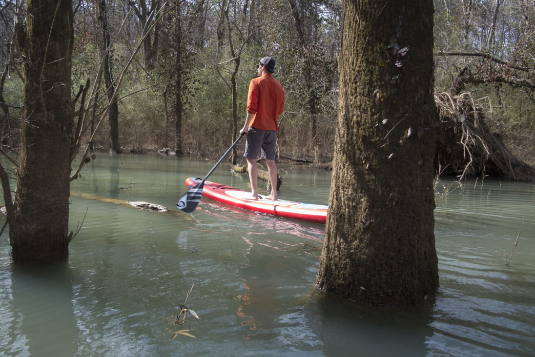 Paddling down Lookout Creek from Tennessee to Georgia.