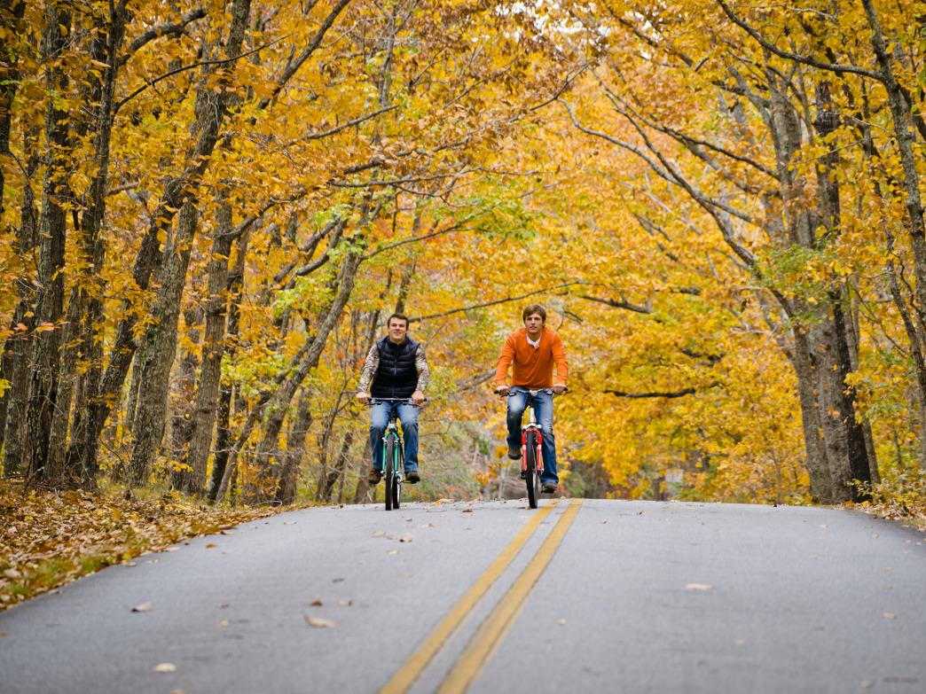 F.D.R. State Park's Presidential Pathway is great for cycling.
