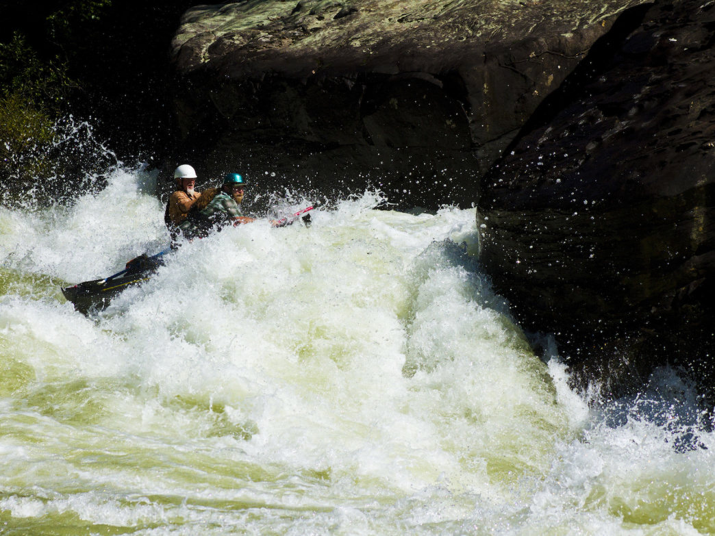 Ripping down the Gauley River through some epic rapids.     Jay Young