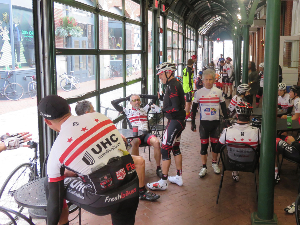 Riders, coffee, and bikes take over Dean & DeLuca every Sunday morning.