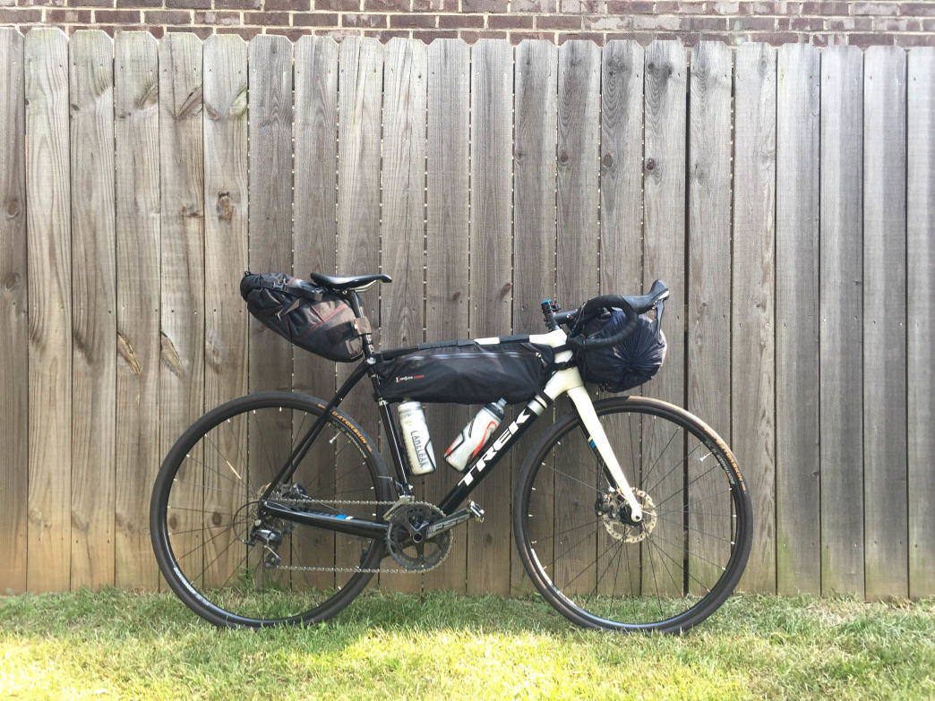 The author's bikepacking rig prior to liftoff.