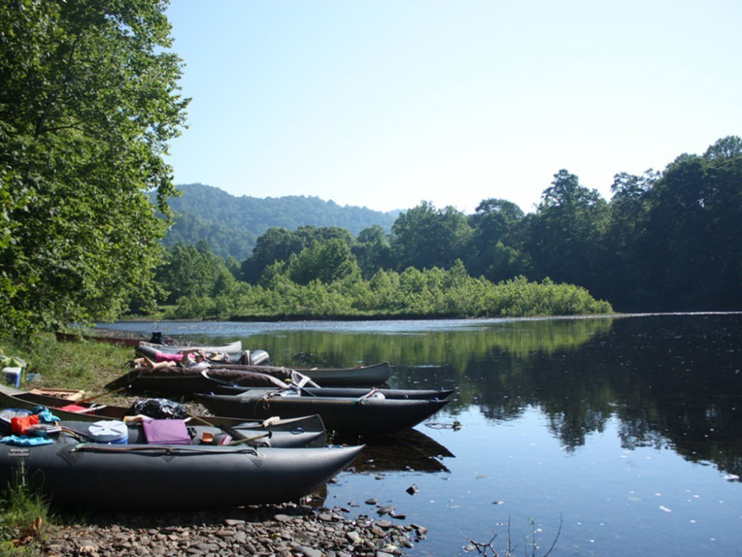 Playful paddlers have plenty of time for fun on the Upper Cheat River Water Trail.