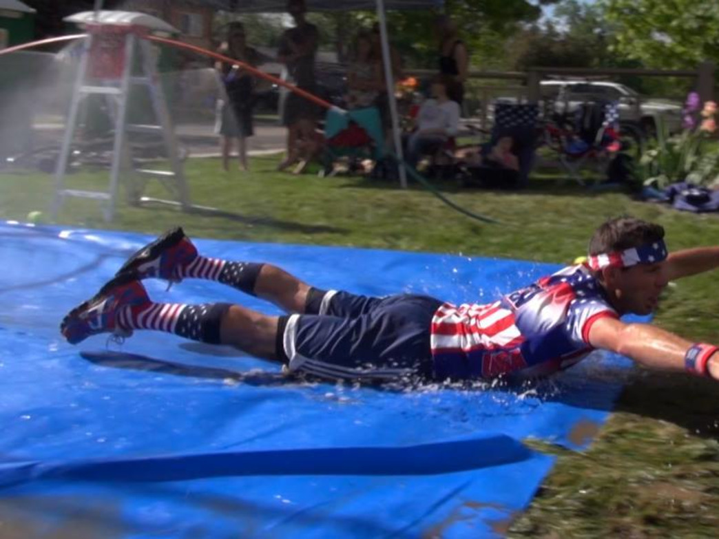 Keep an eye out for the slip 'n slide near Columbine Elementary.