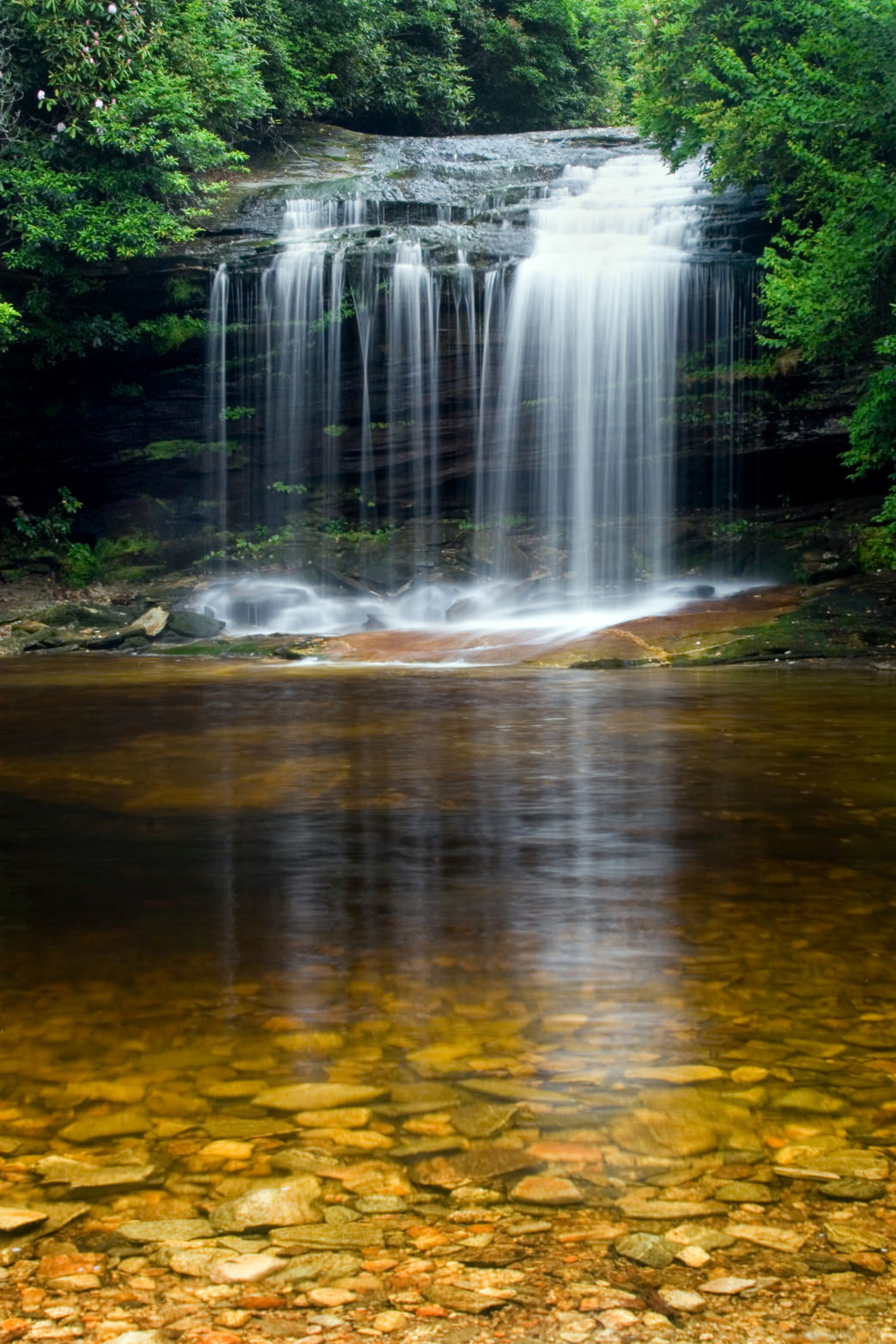 Schoolhouse Falls are accessible via a 1.4-mile hike.