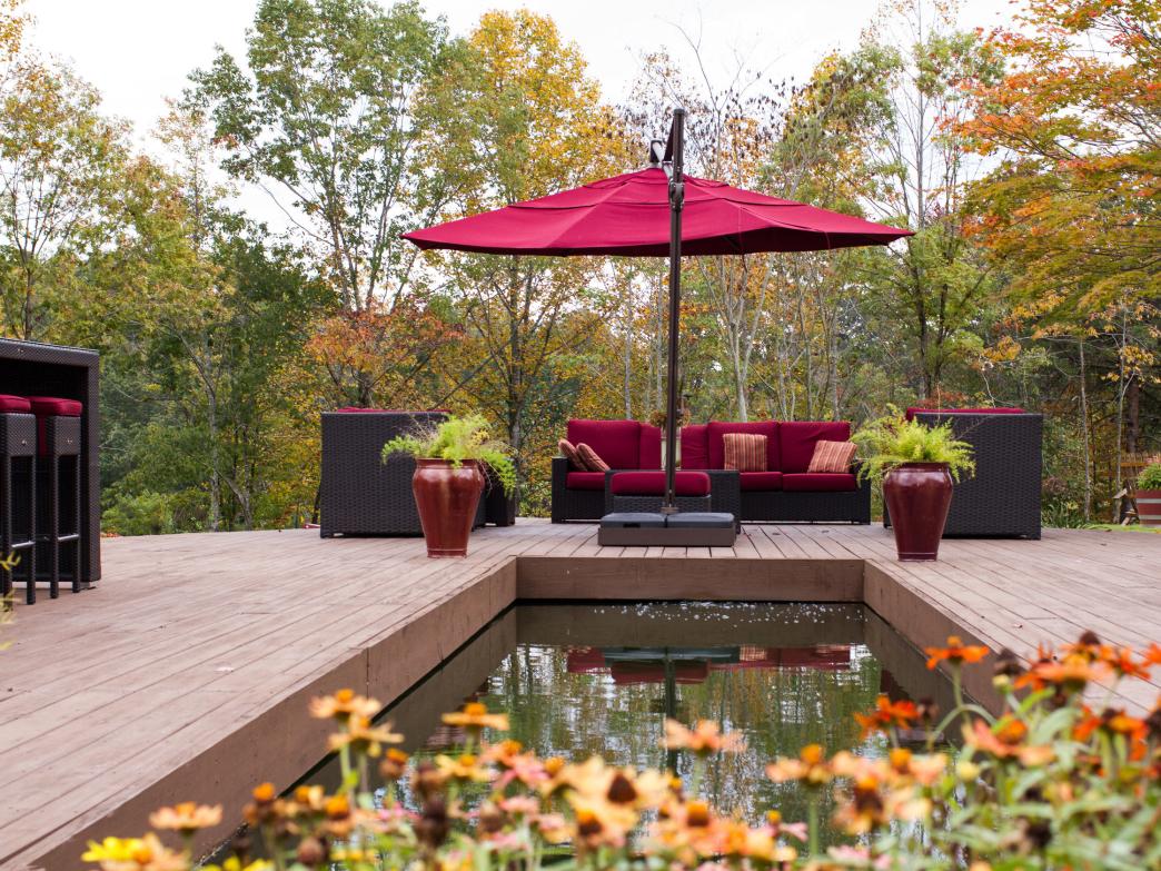 It doesn't get much better than a glass of wine in a beautiful outdoor space.