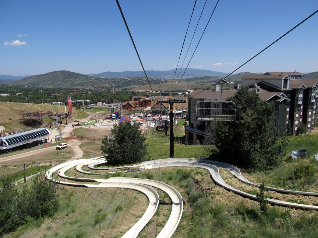 Slide down one of the world's longest alpine slides at Park City Mountain Resort.