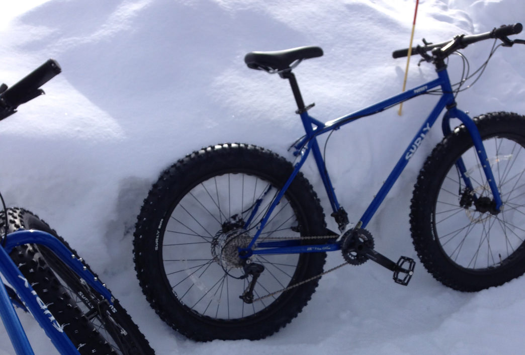 Fat biking in Maple Grove, Minn.
