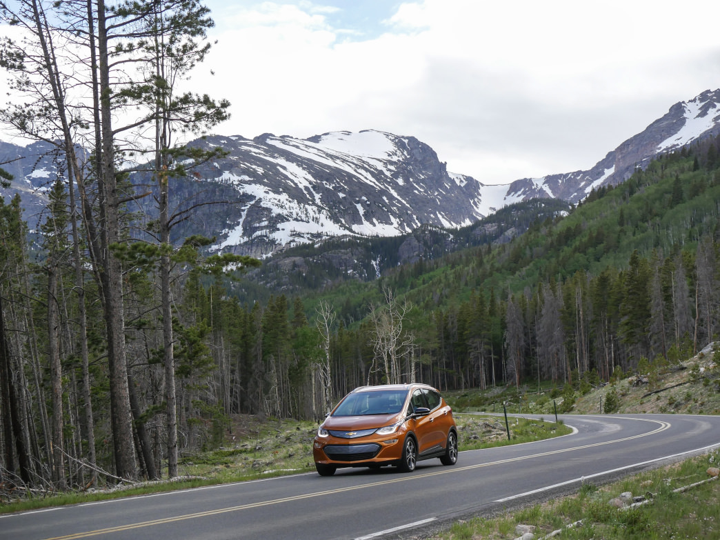 Mountain cruising was a blast—it was easy to forget the Bolt uses no gasoline.      Barry Staver