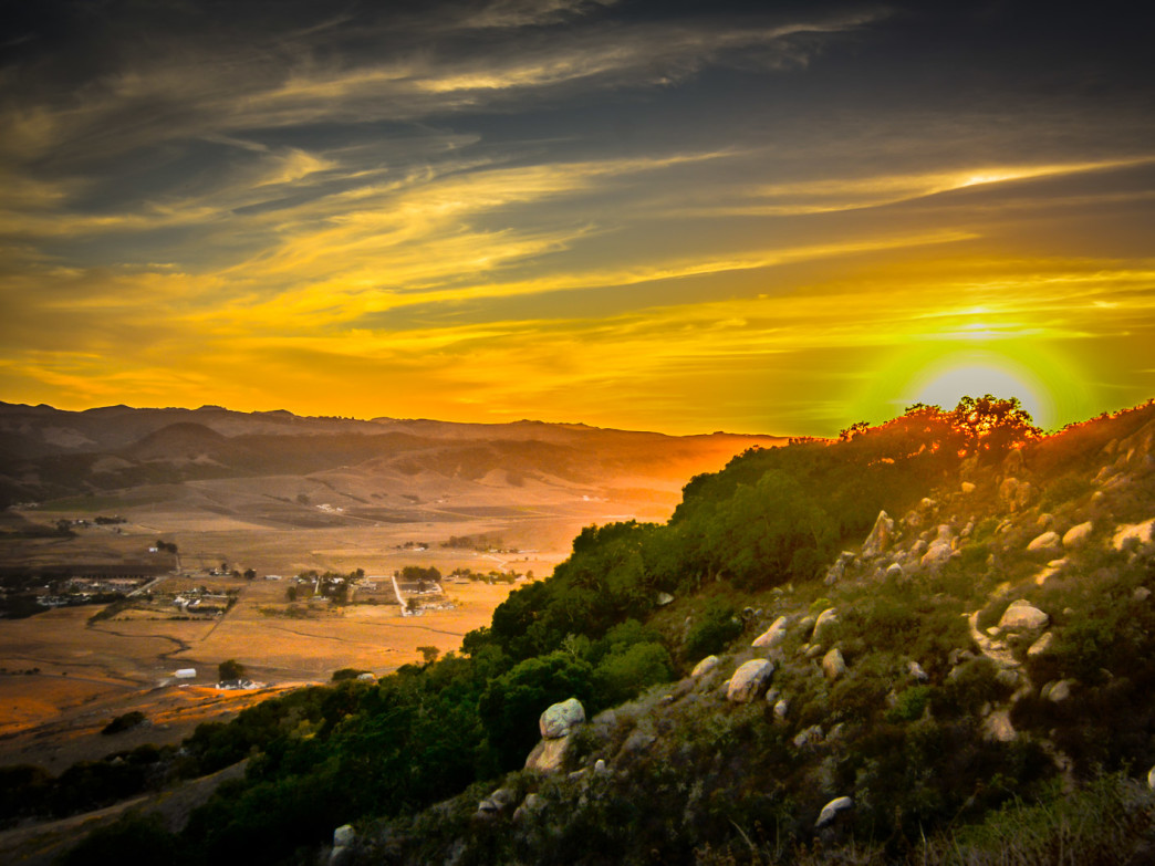 The view from Bishop's Peak at sunset is nothing less than stunning.