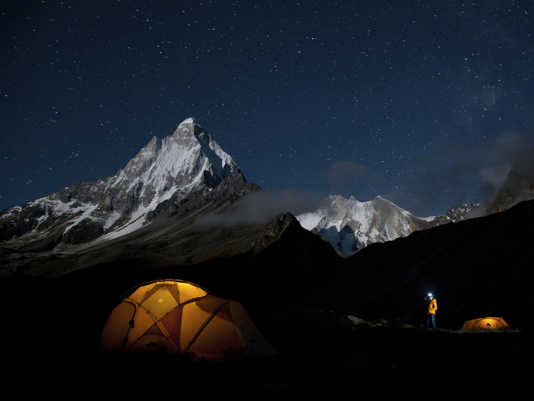 A night under the stars during The North Face Meru Expedition in 2011.