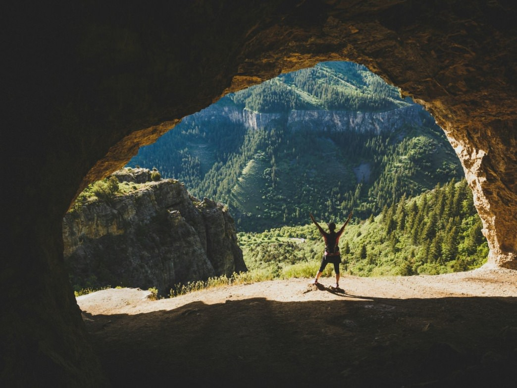 Hiking in Logan Canyon's Wind Caves