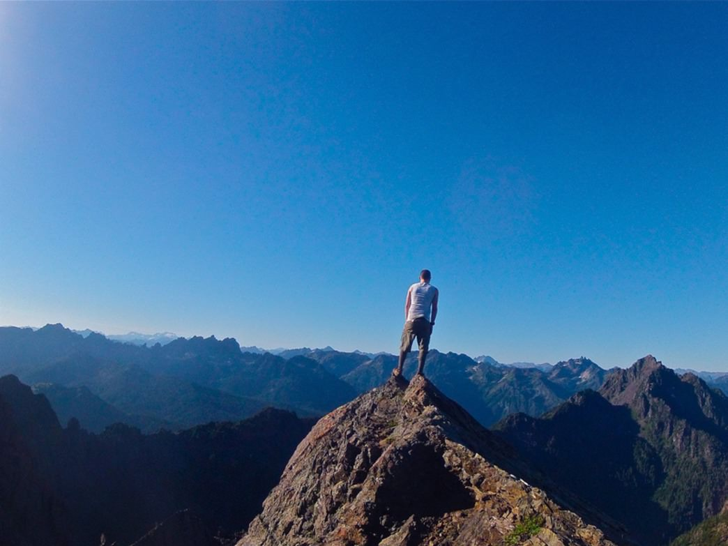 Taking in the view from Mount Ellinor
