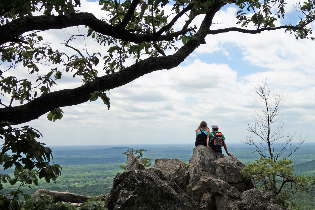 Take in the scenic view at Kings Pinnacle, the highest point in Gaston County.