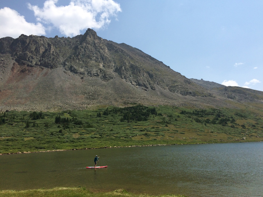 Since alpine SUP hasn't totally caught on yet, you'll often have the lake to yourself.