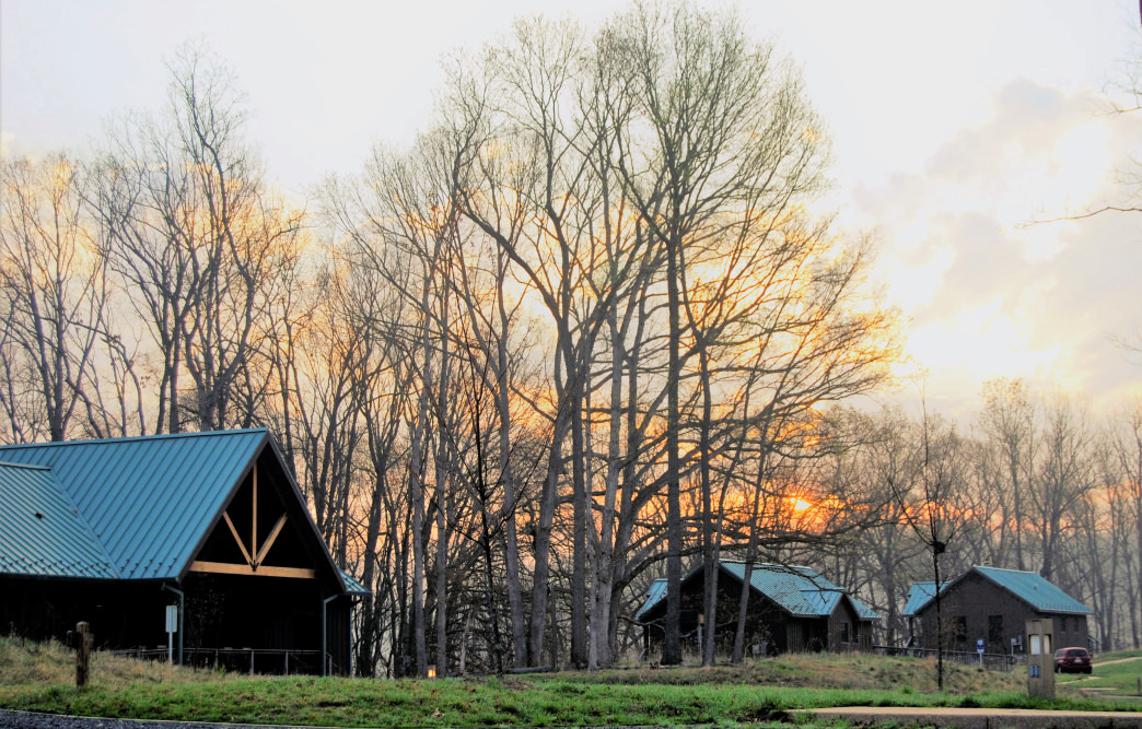 Find a cabin to spend the night at Shenandoah River State Park.
