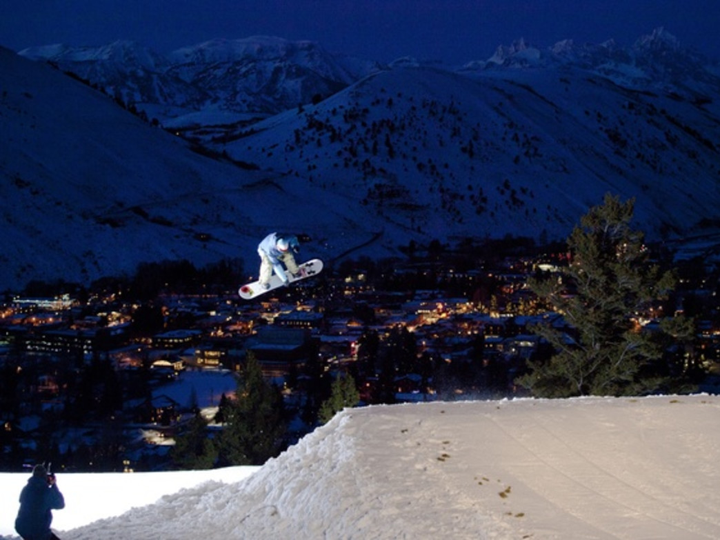 Venture out after dark for some night skiing laps and terrain park action under the lights.