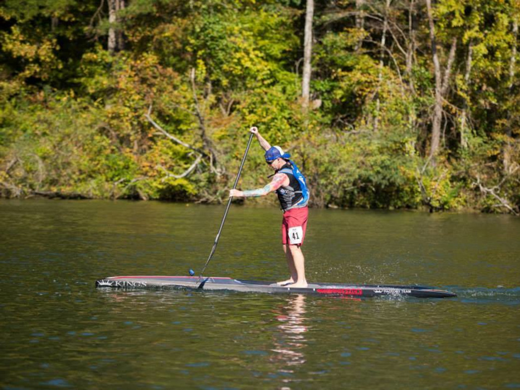 14' SUP extraordinaire, Steve Dullack on a relaxing summer session