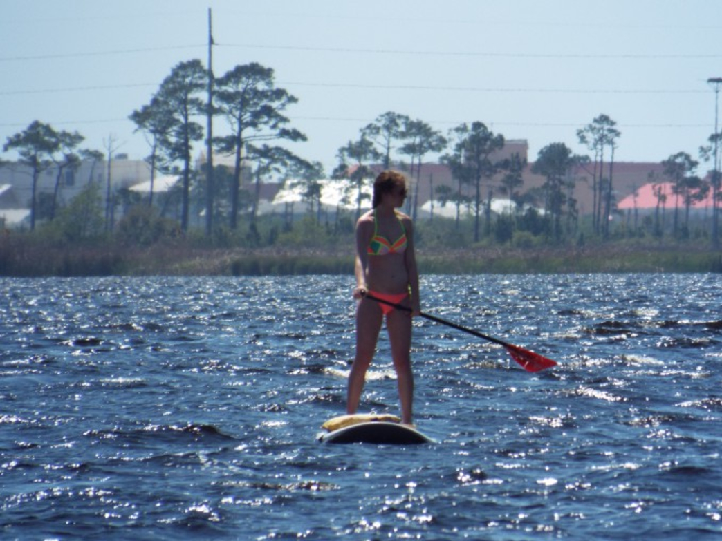 Lake Shelby is perfect for SUP's with a mostly calm and steady current.