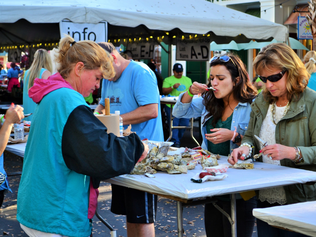 Ejoy the  oysters and the after party at the Beaufort Twilight Run and Oyster Roast