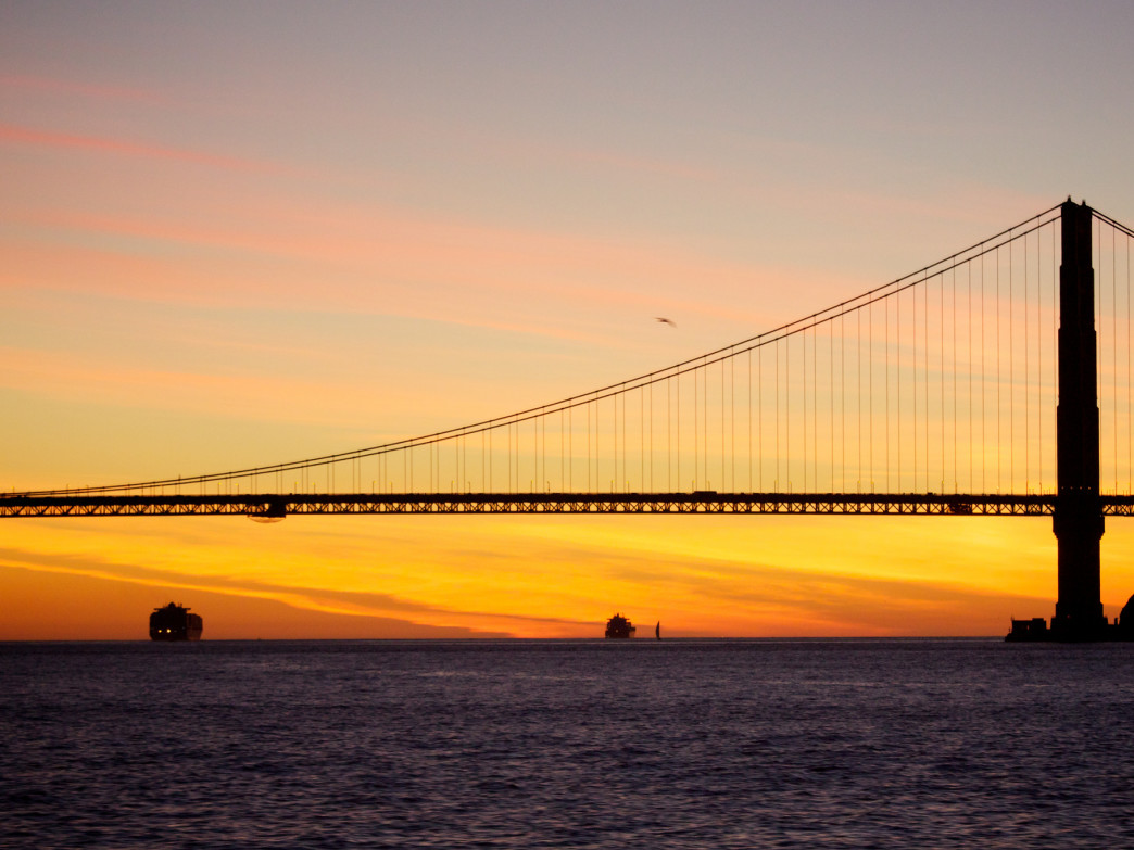 The views of the Golden Gate Bridge and a golden sunset are gorgeous from Angel Island.