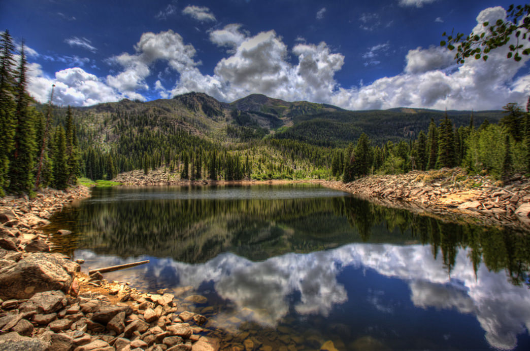 Weller Lake offers drop-dead gorgeous views for campers lucky enough to snag a spot here.