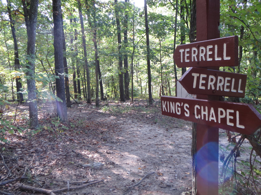 The trails are well marked at Lake Guntersville State Park.