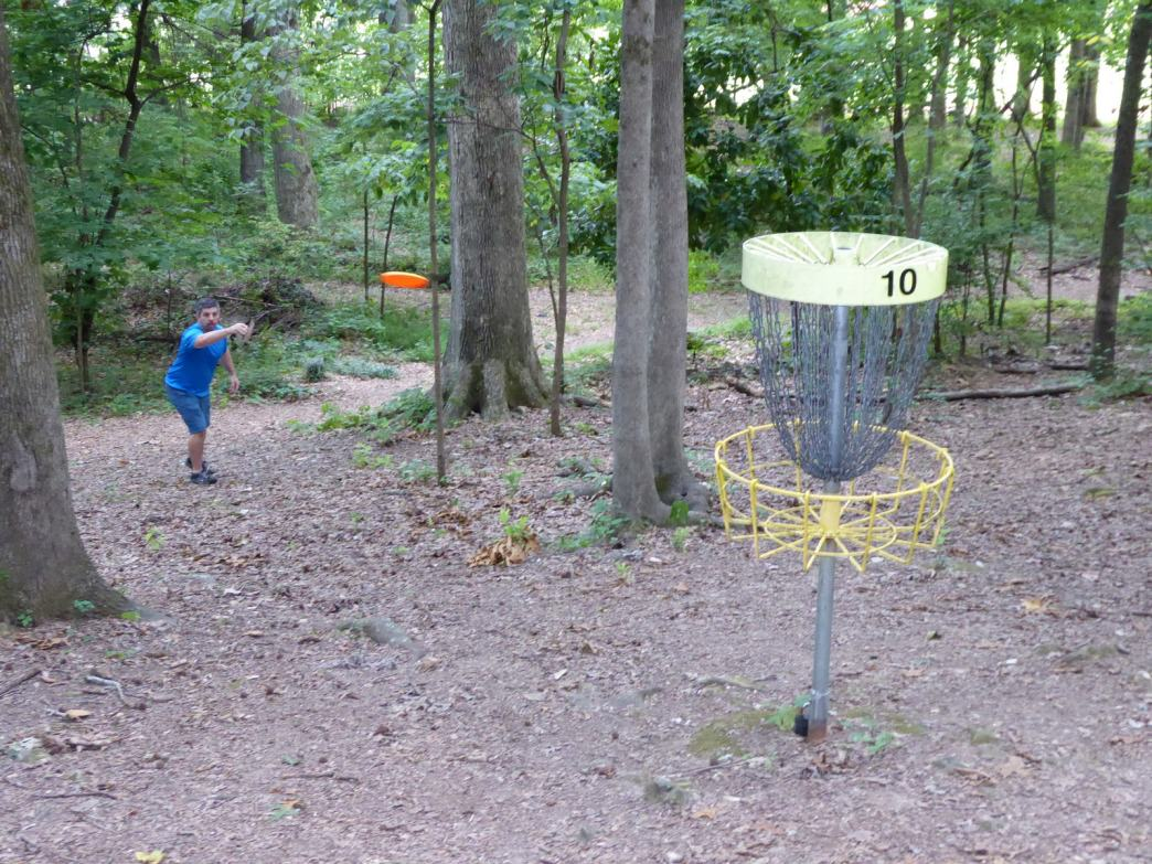 The 18-hole Mastin Lake course crawls up and down wooded terrain.     Wendy Geister