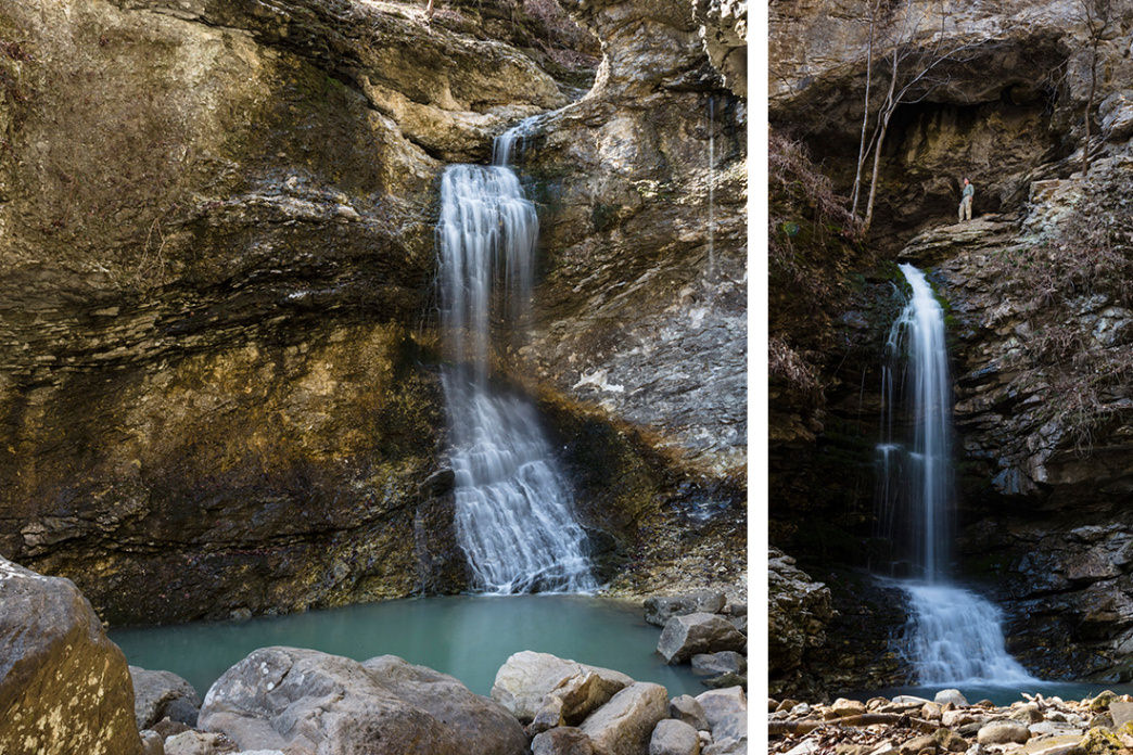 Eden Falls and Upper Eden Falls, Lost Valley, Ponca, Buffalo National River