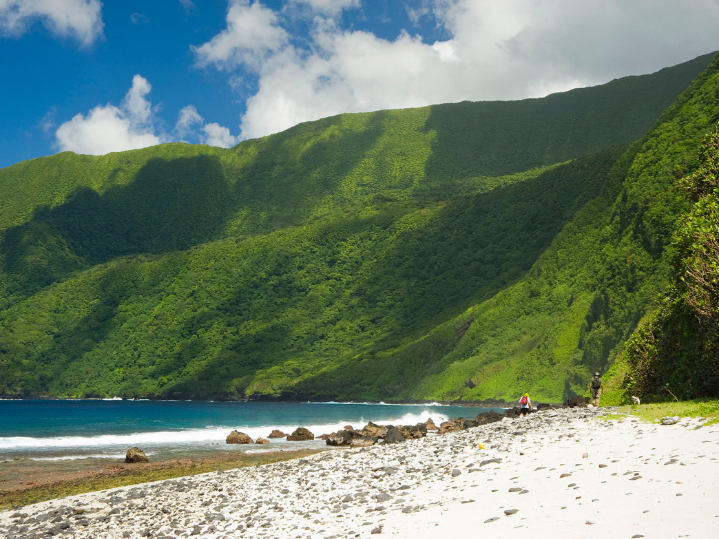 Pristine beaches at the National Park of American Samoa.