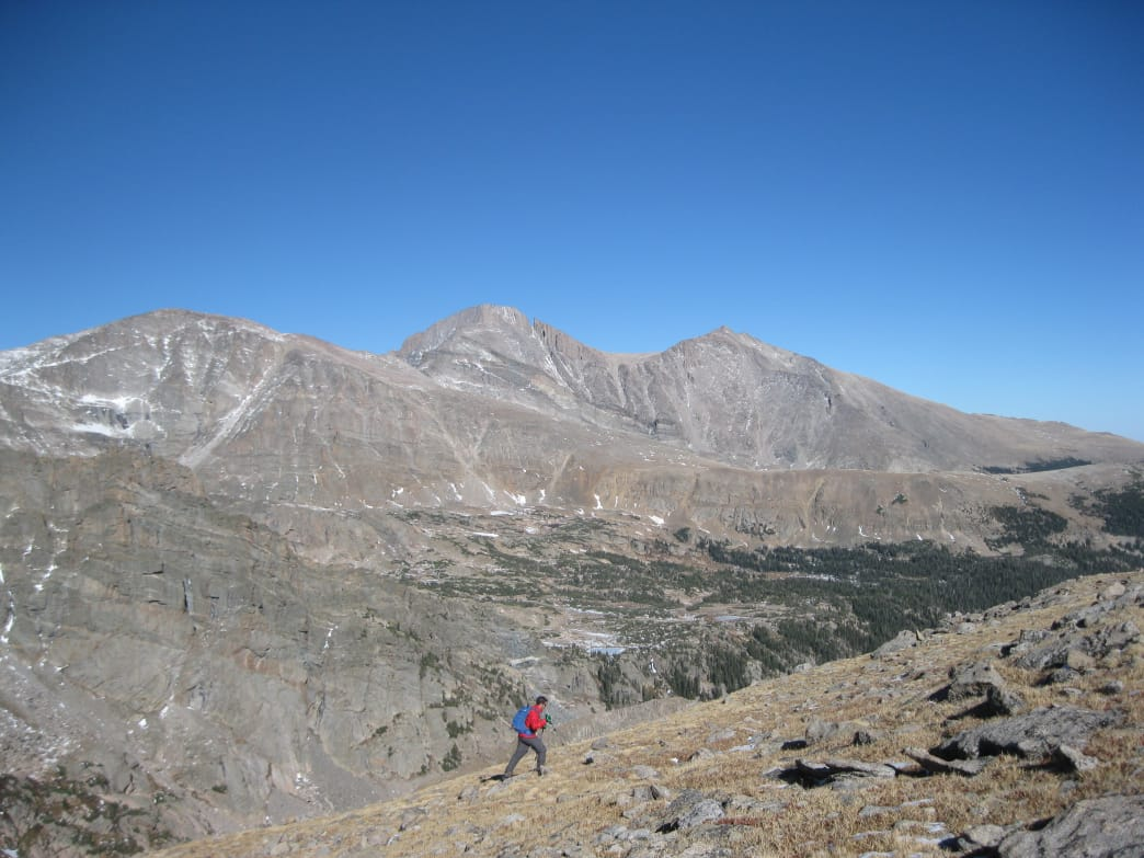 Nearing the summit of Tanima Peak near Boulder Grand Pass.