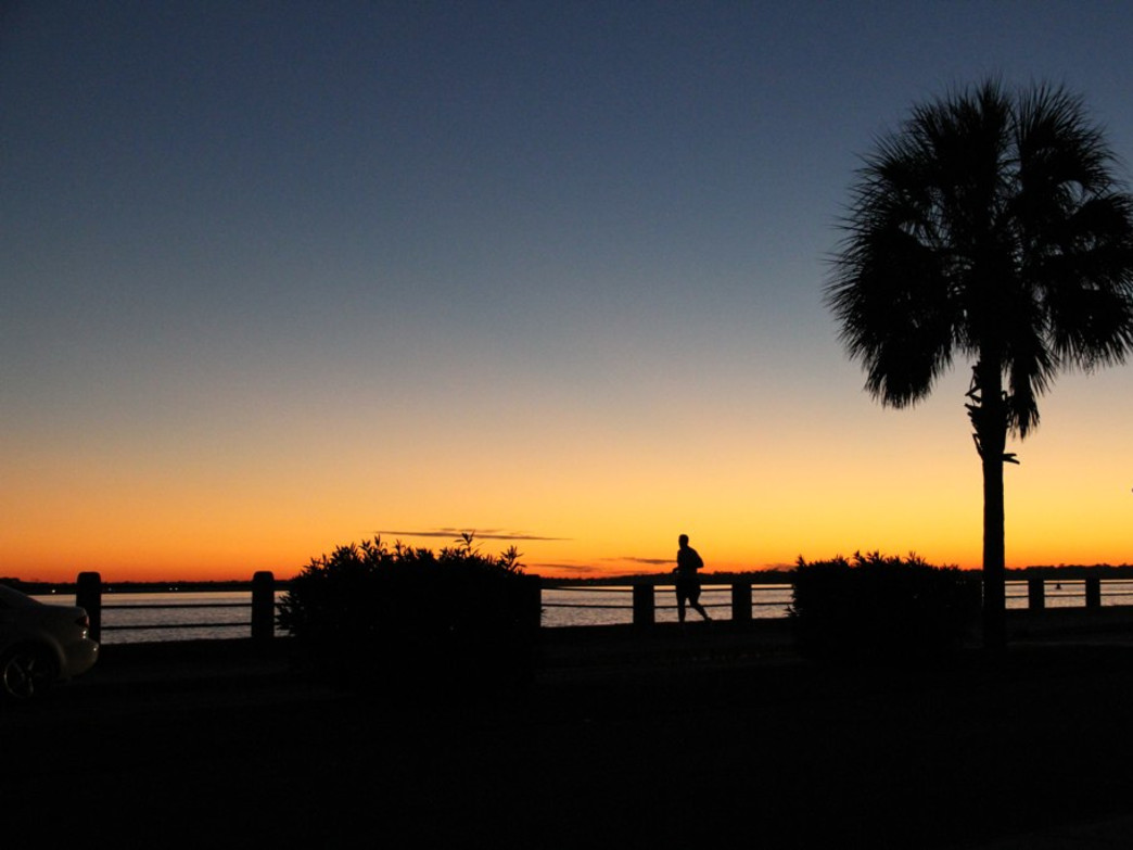 An early evening Charleston sunset