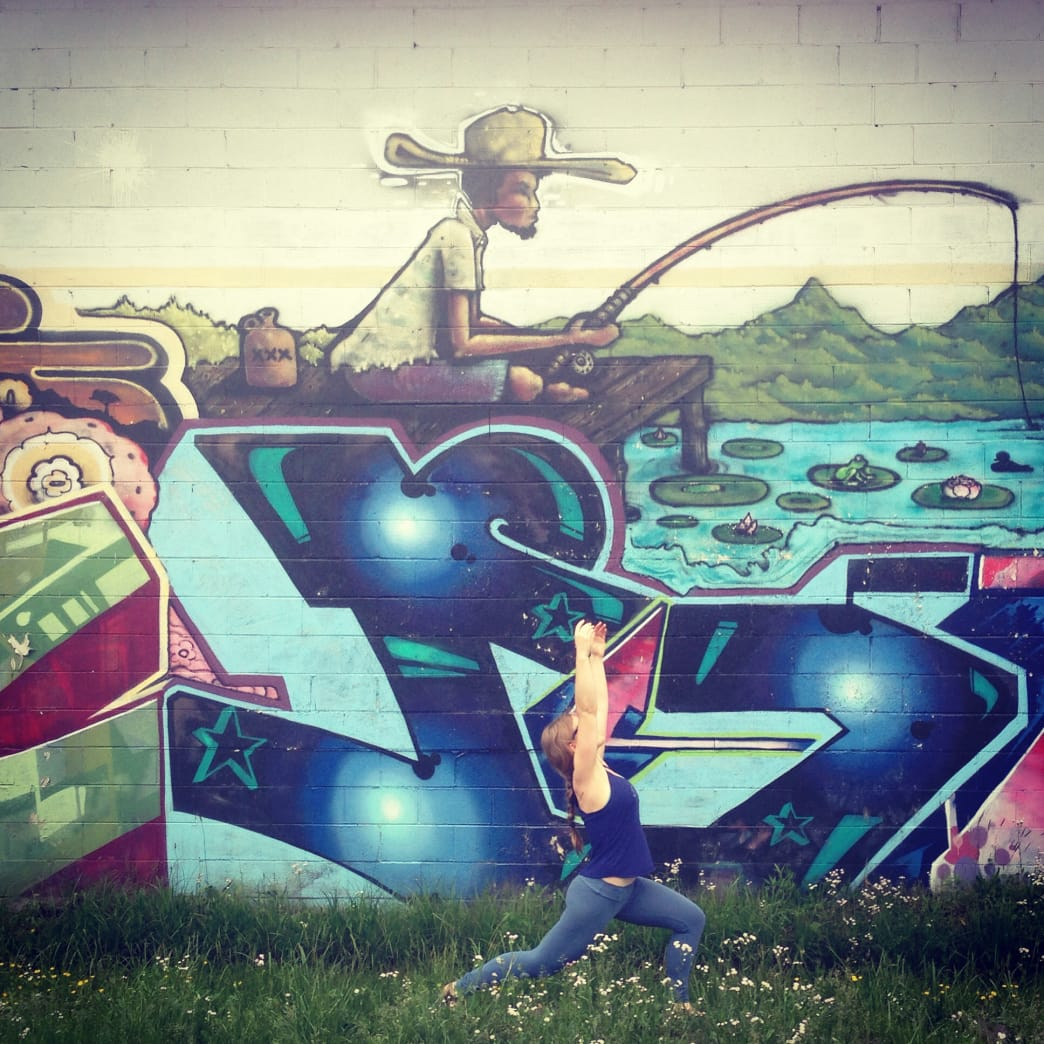 A mid-run ramble through the secret murals of the River Arts District.