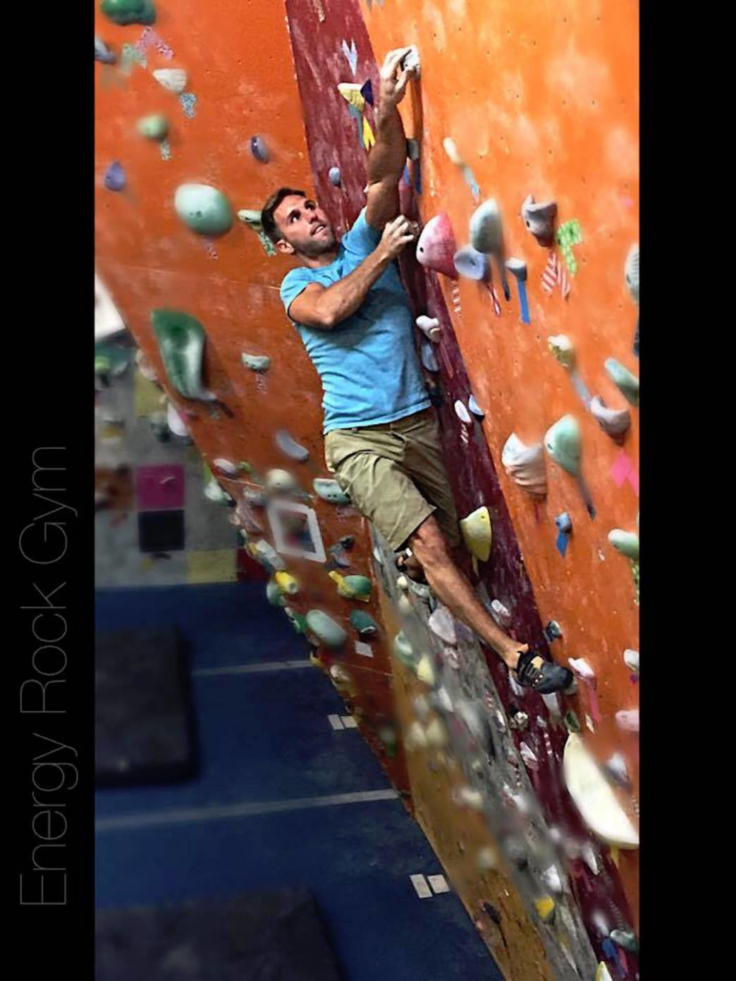 Get in a quick training session after work at an indoor climbing gym.     David Statler