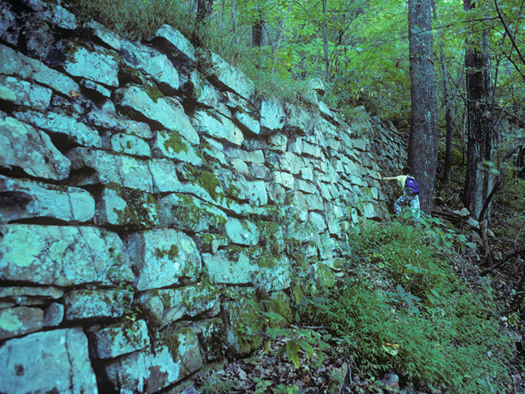 Stonework at Incline #1 near Cravens House