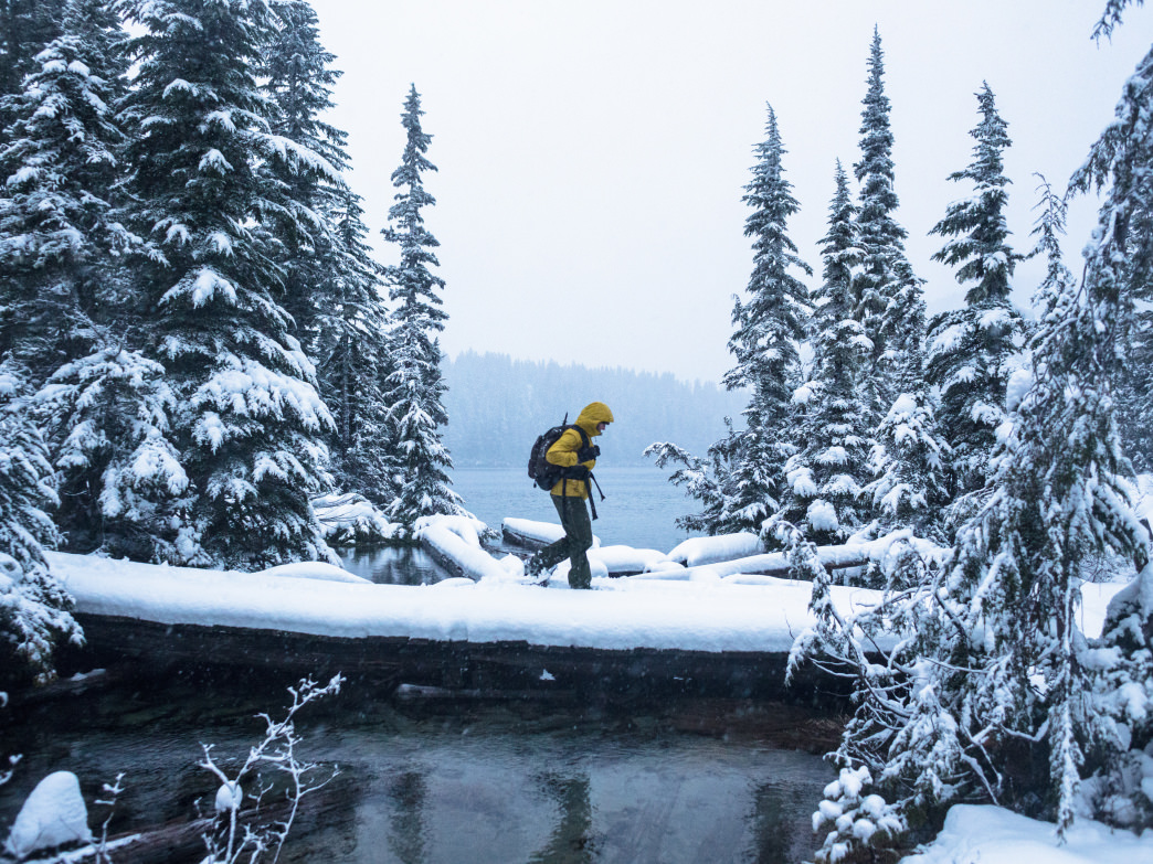 Mount Rainier National Park is a great place for hikers to try snowshoeing in winter.