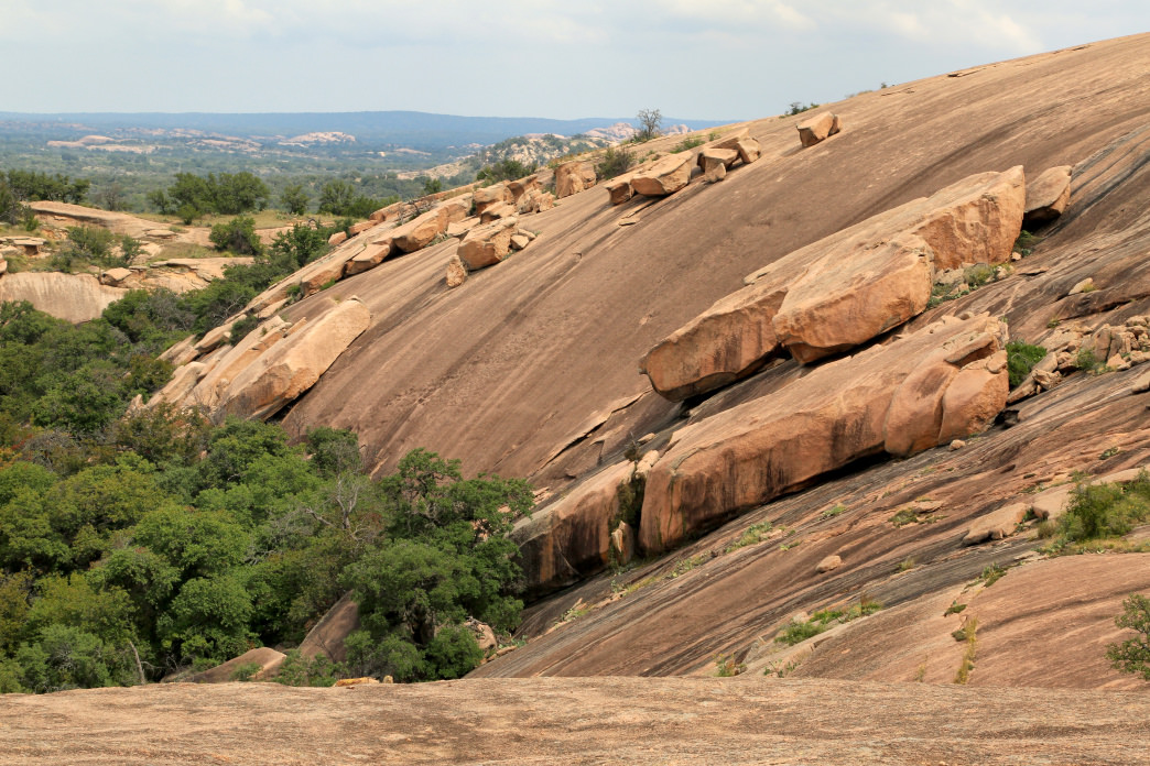 Enchanted Rock features more than 11 miles of hiking trails.