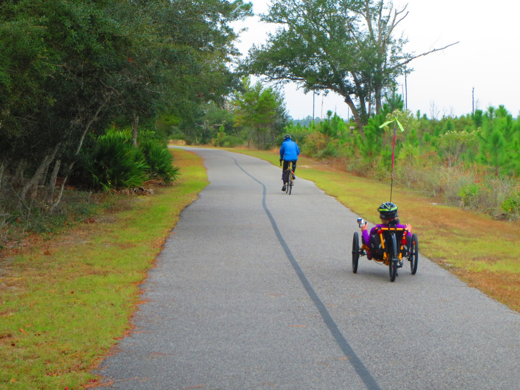 The Hugh S. Branyon Backcountry Trail is one of coastal Alabama's best resources for cyclists.