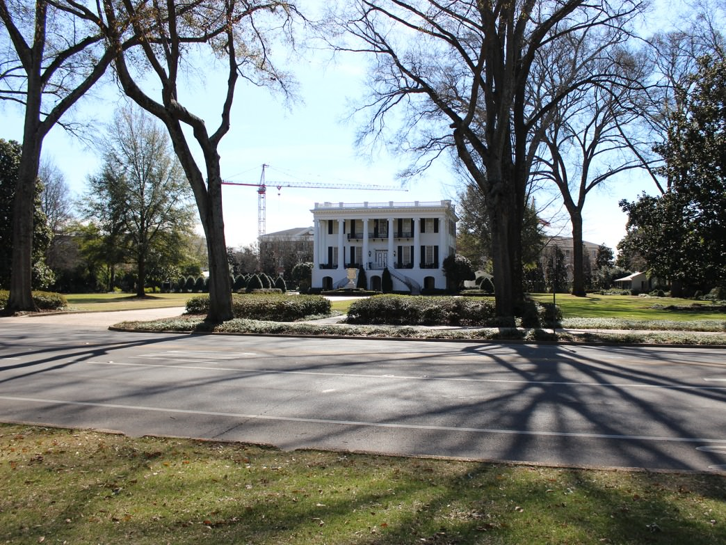 The President's Mansion on The University of Alabama Quad
