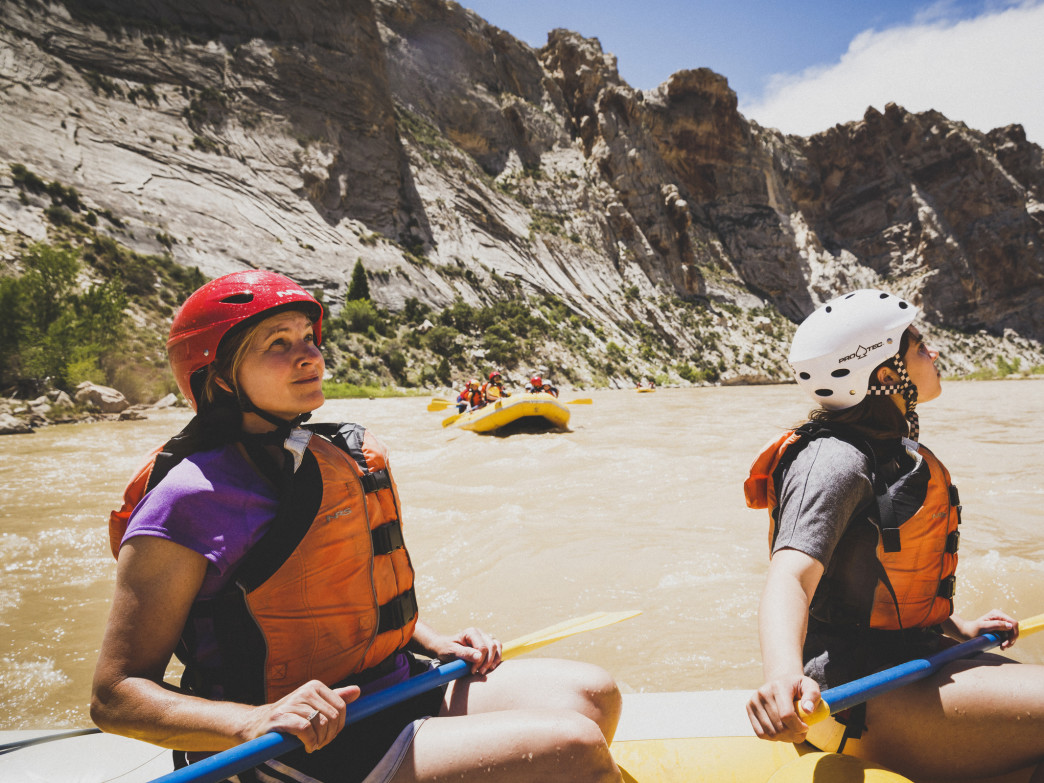 The spectacular canyon views are mesmerizing along the Split Mountain section of the Green River.