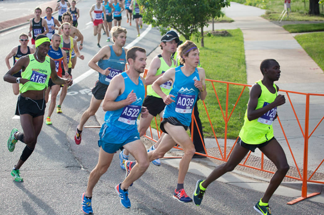The course winds through the streets of Boulder.