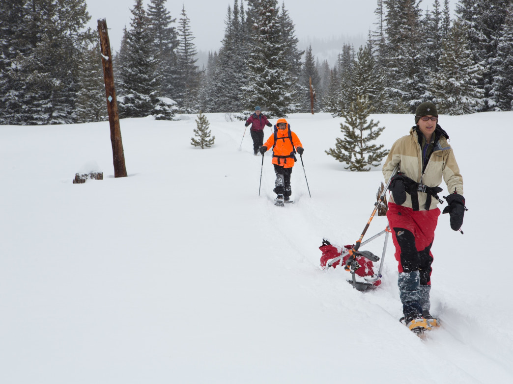 When snow blankets the slopes, you can tote heavier loads in a sled. Just make sure the route isn't too hilly.