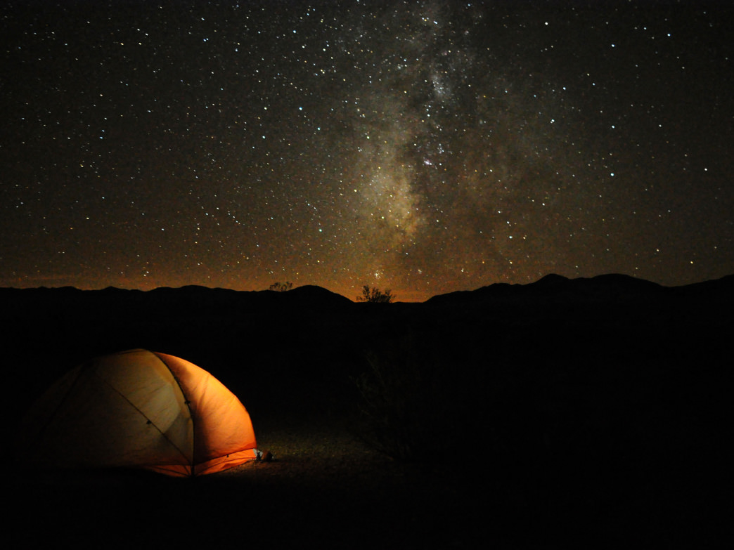 Camping under unfathomably starry skies in Death Valley National Park.