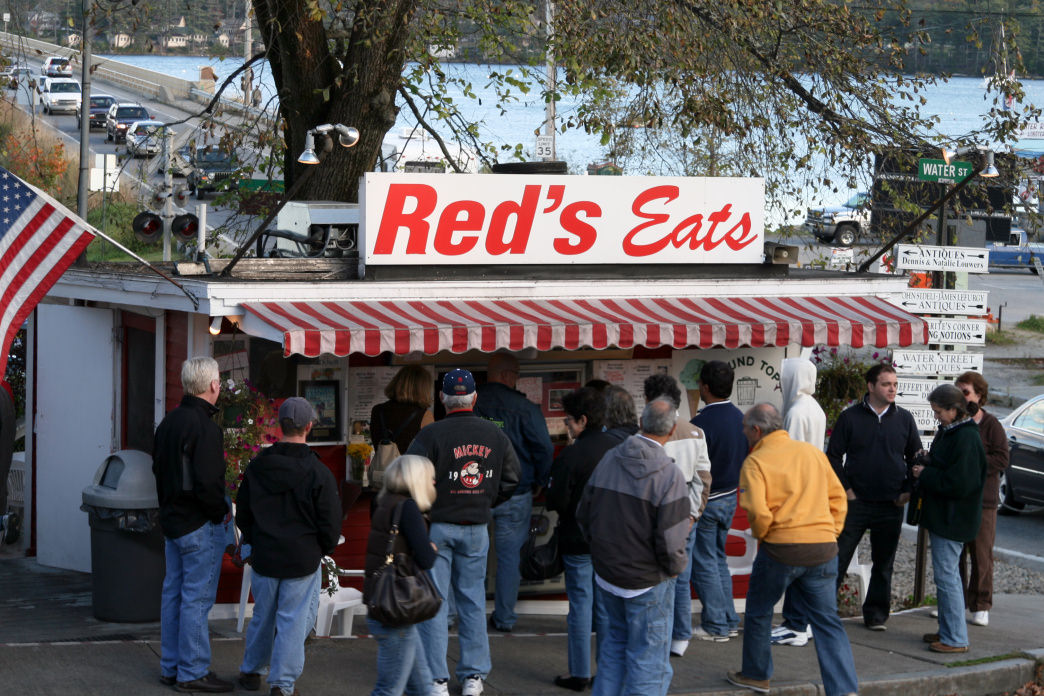 Don't miss out on a stop at Red's Eats, famous for its delicious lobster rolls.
