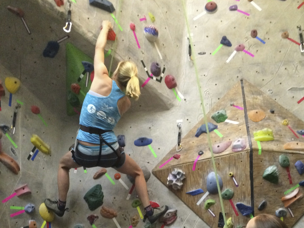Even if you're new to climbing, you can have a blast tackling an indoor wall.