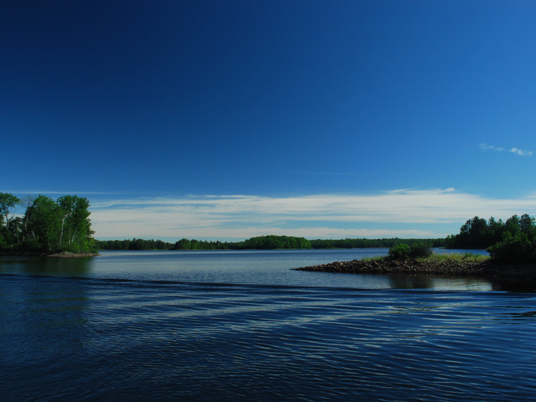 The smooth waters of the Turtle-Flambeau Flowage.